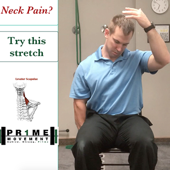 neck pain stretch relief